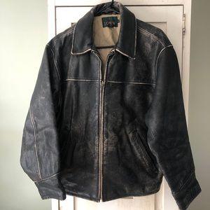 Vintage 1990s Leather Bomber Jacket